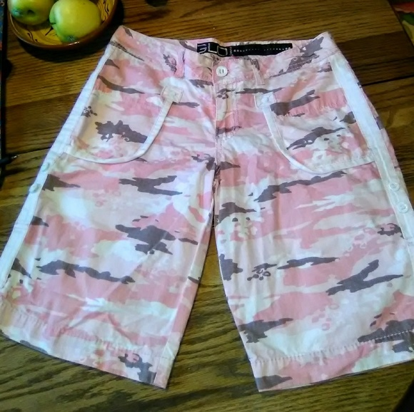 GLO jeans Pants - GLO Pink Camo Cargo Shorts